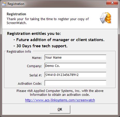 ScreenWatch Registration