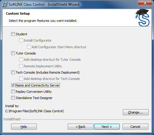 SoftLINK Classroom Management Software Name & Connectivity Server