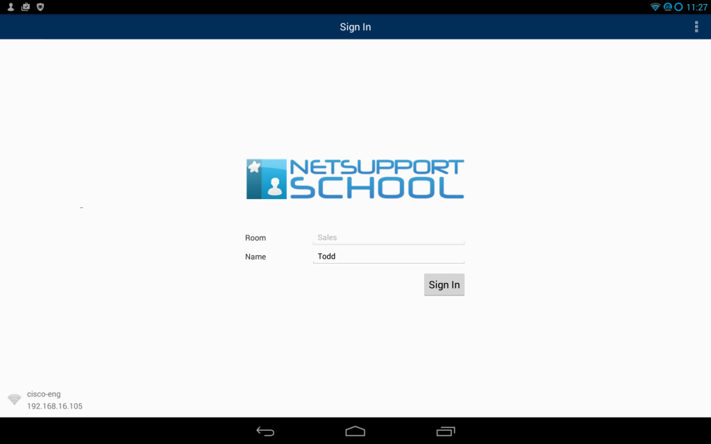 SoftLINK Android Student Login