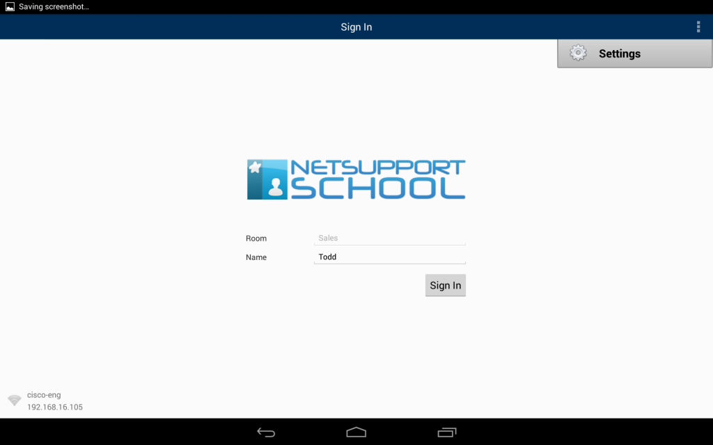 SoftLINK Android Student Settings