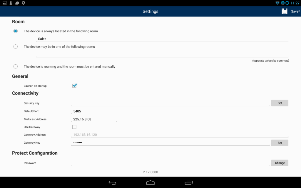 SoftLINK Android Student Settings Screen