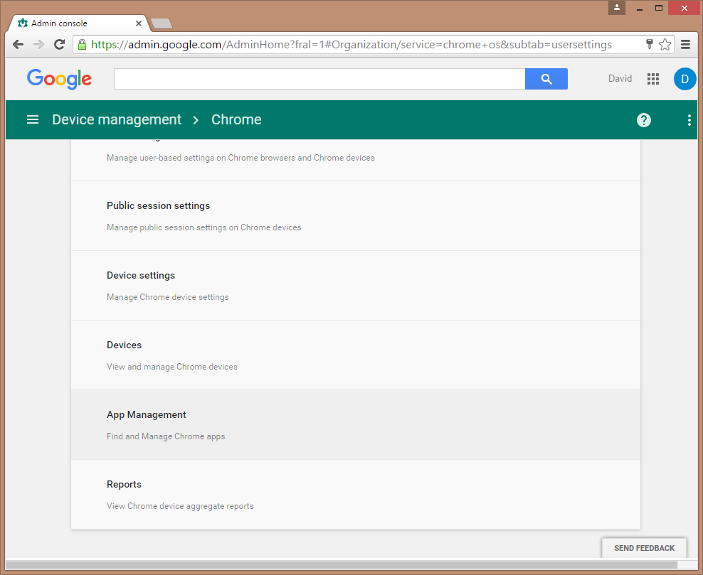 Google Admin Console App Management