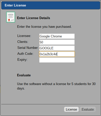 SoftLINK Chrome OS Tutor Licensing