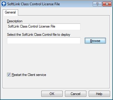 Browse for SoftLINK License File