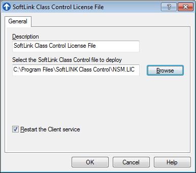 Select SoftLINK License File