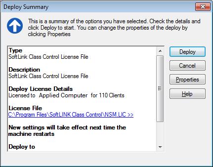 Deploy SoftLINK License File to Client Workstations